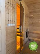 Мобільна лазня квадро з душовою кабінкою під ключ 6х2,3 м